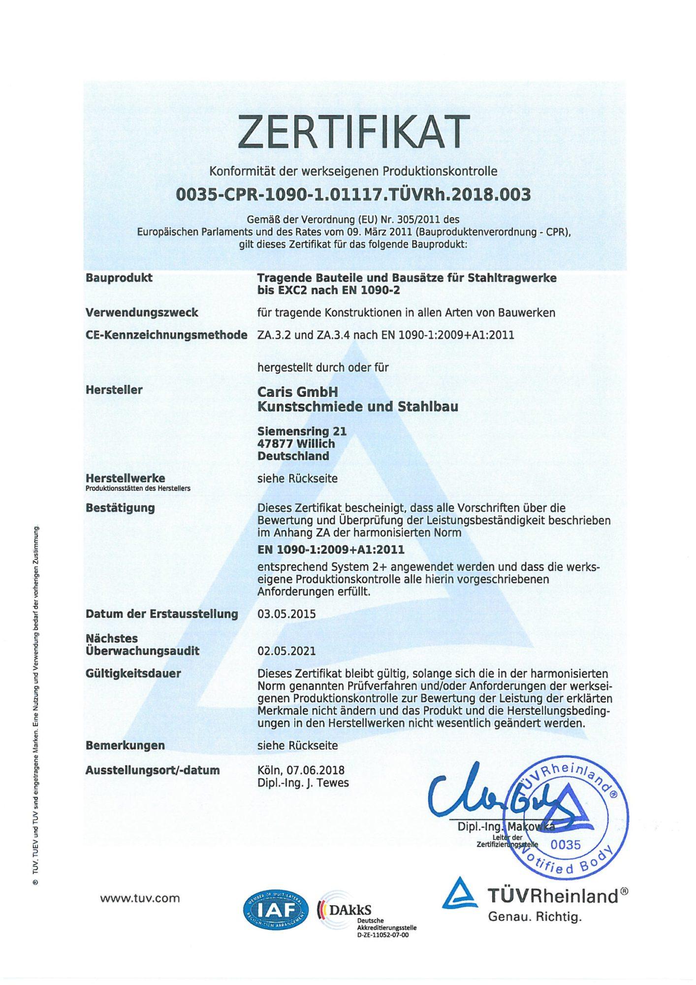 DIN EN 1090 Zertifikat_001