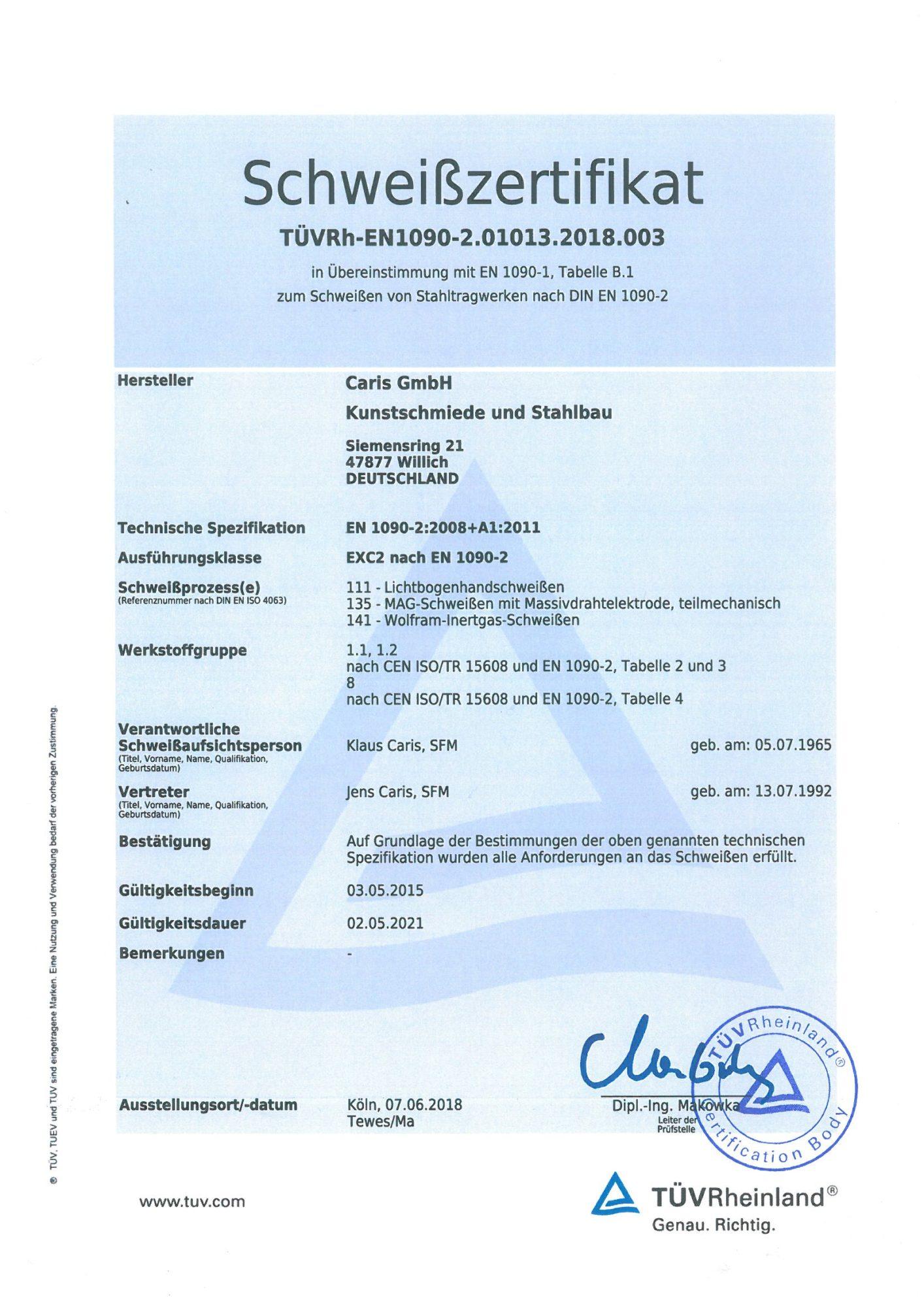 Schweißzertifikat DIN EN 1090_002